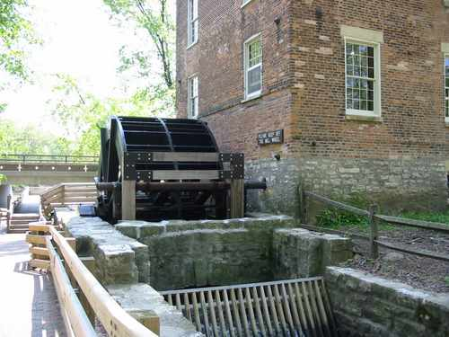 The water wheel at the Graue Mill