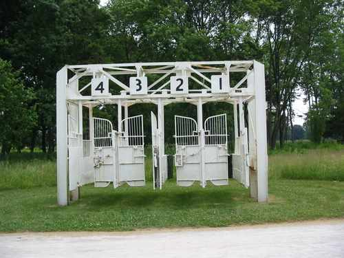 The park still contains remnants from when it was a training ground for race horses.