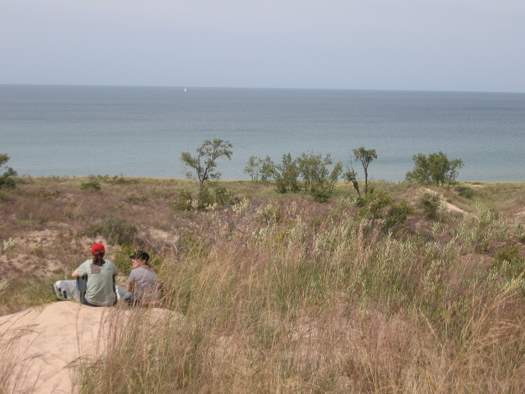 There are plenty of dunes tha serve as a perfect perch to enjoy the lake and beguiling dunes landscape.