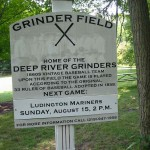 The park contains the home field of the Deep River Grinders, a vintage baseball team that takes on teams from across the Midwest, playing in accordance with 33 rules in effect in 1858.