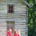 This two-story cabin is one of the structures located on the Bailly homestead. Also on the property are the main house, a small brick house, a chapel, and a reconstructed fur-trading cabin.
