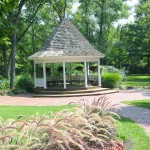 The park's gazebo is a popular place for summer weddings.