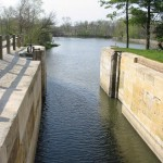 The job of the locktender was to raise and lower boats in this lock at any time of the day or night.