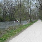 The I&M Canal Trail is one of the most scenic long trails in the region. The scenery is enhanced by the canal, which runs right alongisde the trail.