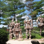 These are some of the nifty sculptures you'll see while following the Rock River Recreational Path.