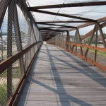 Before reaching Savanna, the Great River Trail takes you over a 1,100-foot-long pedestrian bridge arching over Plum Creek and local railroad lines.
