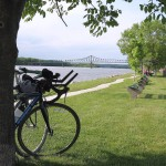 In Savanna, Marquette Park offers great views of the Mississippi River with the Savanna-Sabula Bridge in the background.
