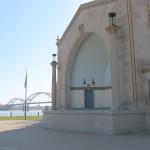The LeClaire Park Bandshell was built in Davenport park along the river in the 1920s.
